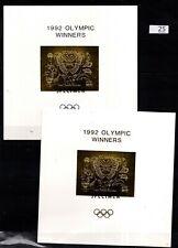 / GUYANA 1992 - MNH - SPECIMEN - GOLD+SILVER OVERPRINT - ELEPHANT, TURTLE