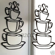 DIY Removable Kitchen Home Decor PVC Coffee House Cup Decals Vinyl Wall Sticker