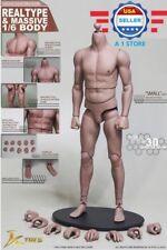 JXTOYS 1/6 Male Figure Body Narrow Shoulder Soft Chest Similar To HotToys TTM22