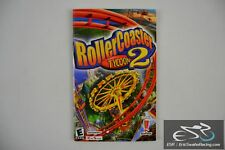 Roller Coaster Tycoon 2 PC Game 2002 Infogrames Six Flags Manual