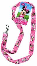 """Disney Minnie Mouse Pink Bowtique Pin Trading Keychain Lanyard 18"""" -2 Pack"""