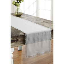 New listing Tobacco Cloth Antique White Runner 13x48 Rustic Country