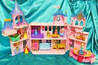 LARGE PINK DISNEY PRINCESS ROYAL CASTLE - 10 Figures + Accessories & Furniture