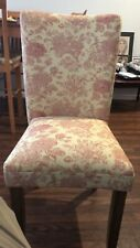 Parsons Dining Chair – Cream and Red Toile
