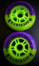 2 100mm Inline Wheel Skate Wheels - Indoor K2 Outdoor roller pro scooter speed