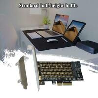 1PC M.2 NGFF to Desktop PCIE x4 NVMe SATA Dual SSD Express Adapter HOT Card V0A5
