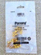 10 PC. POMONA 2142-4 INSULATED MINIATURE BANANA JACK,  YELLOW
