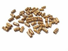 200pcs 12mm x 5mm WOODEN EXOTIC Cylinder Tube Beads - Patterned Wood Jewellery