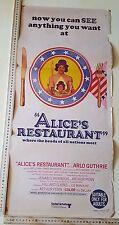 1969 ALICE'S RESTAURANT ORIGINAL FILM POSTER *AUSTRALIAN POSTER* v2,ONE SHEET