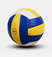 Volleyball, Size 5, Soft Indoor Outdoor Volleyball Yellow-White-Blue New