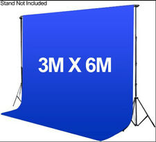 Photography 3*6m Muslin Cotton Chromakey Backdrop Studio Fabric Background BLUE
