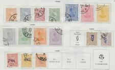 16 Middle Eastern Stamps from Quality Old Antique Album 1898-1899