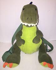 Gund AAAAH Dinosaurs - Green Corduroy BACKPACK T-Rex Dino w/ Zipper & Adjustable