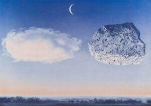 La Bataille de L'Argonne by Rene Magritte Art Print Cloud Rock Poster 27.5x19.75