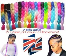 "97+ Colours  U.K  24"" Ombre Dip Dye Kanekalon Jumbo Braid Hair  24 Hrs Delivery"