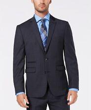 $857 Vince Camuto Men's 46R Grey Slim Fit Stretch Suit Jacket Sport Coat Blazer
