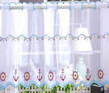 "Kitchen Voile Cafe Net Curtain Panel 32 NEW Designs 12"" 18"" 24"" Drop 1.4m wide"