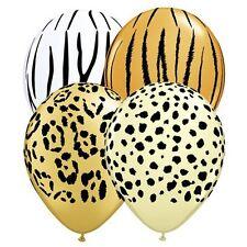 "Party Birthday Decoration Supplies Jungle Safari Prints 12cm/5"" Balloons pk 10"