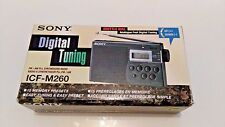 SONY ICF-M260 AM/FM Portable Pocket Radio Digital Tuner