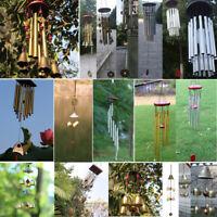 Large Muti-Tubes Windchime Chapel Bells Metal Wood Wind Chimes Door Home Decor