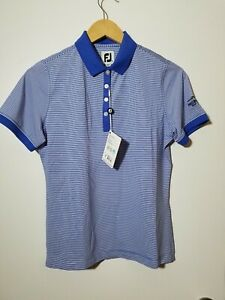 1 NWT FOOTJOY WOMEN'S SHIRT, SIZE: SMALL, COLOR: BLUE/WHITE (J37)
