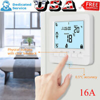 Wifi LCD Wireless Smart Programmable Thermostat Electric Heating App Control 16A