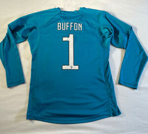 Mens Adidas Buffon Juventus Long Sleeve Soccer Jersey Size Adult Medium - Large