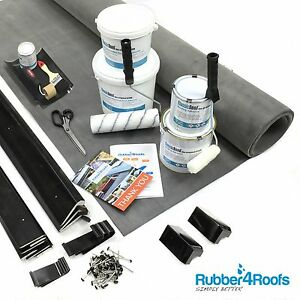 Dormer Rubber Roof Kit For Flat Roofs, All Sizes Available - 50 Year EPDM Life