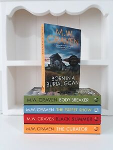 Collection of 5 x Paperback Books Crime Thriller M W Craven Born in a Burial NEW