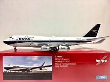 Herpa Wings British Airways Boeing 747-400 BOAC 1:500 G-BYGC 533317