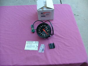 "GM Monster tachometer, 5"" diameter, 10k rpm with recall, NOS! 10038474 tach"
