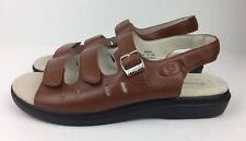 Propet Shoes Women's Breeze Walker Slingback Sandal Teak Brown Leather Sz 10 M