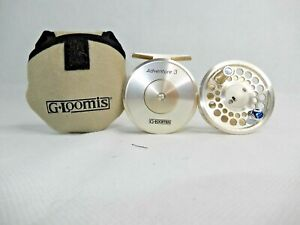 G Loomis Adventure 3 Fly Reel w/ Extra Spool Soft Case Line GT#111/84