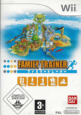 FAMILY TRAINER for Nintendo Wii - with box & manual - PAL