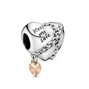 💖 Keep Me Safe Family Genuine 925 Sterling Silver Charm Sister Mum Wife 💖