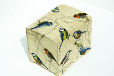 Wood handmade hinged lockable medium trinket chest box decoupage Birds