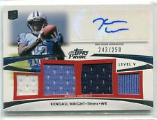 2012 Topps Prime Kendall Wright QUAD 4 JERSEY RELIC AUTO AUTOGRAPH RC 243/250