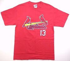 St. Louis Cardinals unisex Majestic t-shirt Brendan Ryan 13 size M medium binL