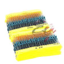 130 value 2600 pcs 1ohm-10M ohm ¼W Metal Film Resistor Resistors Assortment Kit