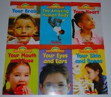 6 Science Book Set Reading Level K-L HUMAN BODY Nonfiction Vocabulary Grade 2
