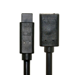 Cablecc Black IEEE 1394 6PIN Female to 1394b 9PIN male Firewire 400 800 Cable