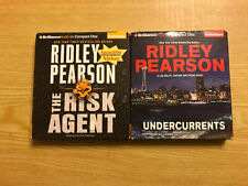 Lot Of 2 Ridley Pearson Audiobooks - The Risk Agent , Undercurrents