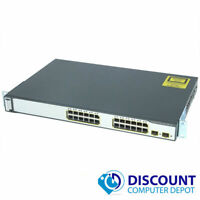 Cisco Catalyst WS-C3750V2-24PS-S 24 Port PoE Fast Ethernet Switch 2x SFP GbE