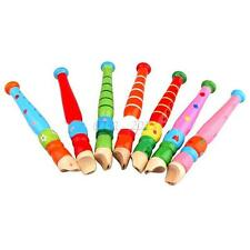 Baby Kids Toddler Educational Toys Musical Instrument Wooden Flute Whistle Toys