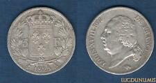2nd Gouvernement Royale - 5 Francs Louis XVIII Buste Nu 1823 A Paris TB TTB