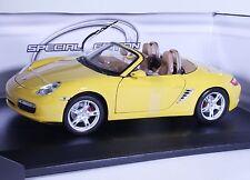 TC02Y NEW Porsche Boxter S Convertible 1:18 1/18 Yellow Diecast Car Model Maisto