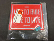 Old Plate Deco Biking Live to Ride Ride to Live Vintage Store of Bicycles Cycles