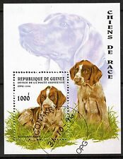 0095+ TIMBRE GUINEE  BLOC  CHIENS    1996