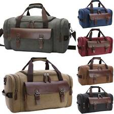 Mens Large Shoulder Luggage Canvas Travel Tote Duffle Bag Gym Sports Handbag