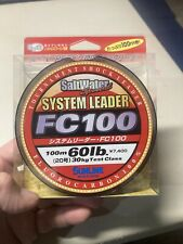 Sun Line 60 Pound Test Saltwater Fishing Line 100% Fluorocarbon 100m Spool